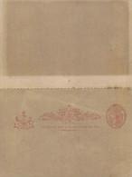 ENTIER POSTAL -Postal Stationery Ganzsache - DOUBLE AVEC RETOUR - REPLY - ONE PENNY VICTORIA . - Briefe U. Dokumente