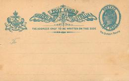 ENTIER POSTAL -Postal Stationery Ganzsache - POST CARD - TWO PENCE VICTORIA . - Briefe U. Dokumente