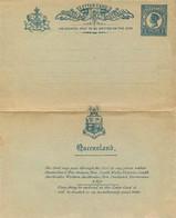 ENTIER POSTAL - LETTER CARD - Postal Stationery Ganzsache - TWO PENCE VICTORIA BLEU Sur GRIS VERT . - Briefe U. Dokumente
