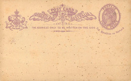 ENTIER POSTAL -Postal Stationery Ganzsache - POST CARD - THREE PENCE VICTORIA . - Briefe U. Dokumente