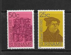 SURINAM 1983 MARTIN LUTHER  YVERT N°932/33  NEUF MNH** - Surinam