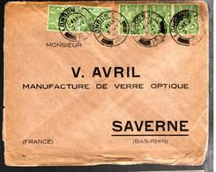 39986 - 5 TP Pour La France - VERRE  OPTIQUE - Briefe U. Dokumente