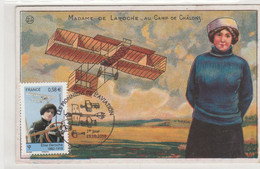 FRANCE - CM N° 4504 - Les Pionniers De L'aviation (Elise DEROCHE 1er Jour 15/10/2010) Pub Chicorées Au Verso - 2010-...
