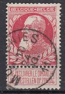 BELGIË - OPB - 1905 - Nr 74 - T2R (MOMIGNIES) - COBA + 4.00 € - 1905 Thick Beard