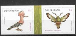 Austria 2008 MiNr. 2754 - 2755  Österreich Birds INSECTS BUTTERFLIES 2v MNH** 4,00 € - Butterflies