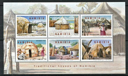 282 - NAMIBIE 2008 - Yvert 1150/55 - Case Hutte Traditionnelle - Neuf ** (MNH) Sans Charniere - Namibia (1990- ...)