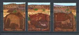 282 - NAMIBIE 2008 - Yvert 1156/58 - Gravure Rupestre - Neuf ** (MNH) Sans Charniere - Namibia (1990- ...)