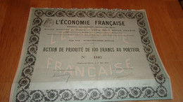 L'économie Française (haybes Sur Meuse ARDENNES)1910 - Zonder Classificatie