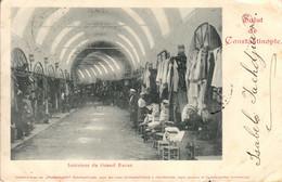 Thematiques Turquie Constantinople Intérieur Du Grand Bazar Salut De Constantinople Timbre Cachet 02 07 1901 - Turkey