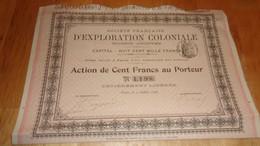 Française D'exploration Coloniale (1898) - Zonder Classificatie