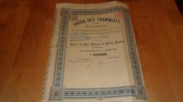UNION DES TRAMWAYS - Zonder Classificatie