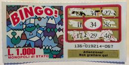 Numero Centrale 34 GRATTA E VINCI  - BINGO - Lottery Tickets