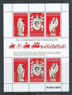 St Christopher Nevis Anguilla 1978 QEII Coronation Anniversary Sheet Of 6 MNH - St.Christopher-Nevis-Anguilla (...-1980)