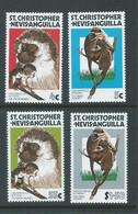 St Christopher Nevis Anguilla 1978 Savanna Monkey Set Of 4 MNH - St.Christopher-Nevis-Anguilla (...-1980)