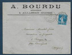 Corrèze - Enveloppe à En Tête   A. BOURRU  Ardoisières à Allassac - Unclassified
