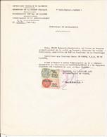CAMEROUN TIMBRES FISCAUX 50 ET 150 FRANCS SUR CERTIFICAT DE DEMENAGEMENT 1966 - Camerun (1960-...)