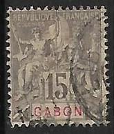 GABON N°21 - Gebraucht