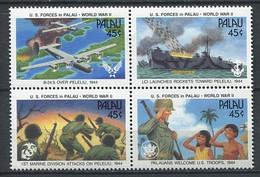 282 - PALAU 1990 - Yvert 361/64 - Forces Armees Bombardier Navire - Neuf ** (MNH) Sans Trace De Charniere - Palau