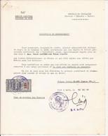 TOGO TIMBRE FISCAL TAXE MUNICIPALE COMMUNE DE LOME SUR CERTIFICAT DE DEMENAGEMENT 1966 - Togo (1960-...)