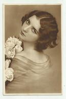 DONNA PRIMO PIANO 1932   VIAGGIATA  FP - Femmes
