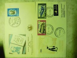 Fdc Belgique Belgie 1965/66 Dont Un Courrier Antarctique Expedition Gravure ( Pen ) - 1951-60