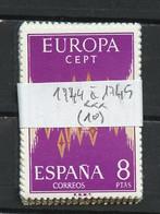 Europa CEPT 1972 Espagne - Spain - Spanien Y&T N°1744 à 1745 - Michel N°1985 à 1986 *** - Lot De 10 Timbres - 1972
