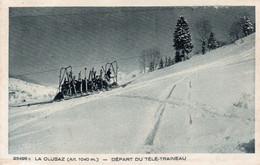CPA - 74 - La Clusaz - Départ Du Télé Traineau A VOIR - La Clusaz