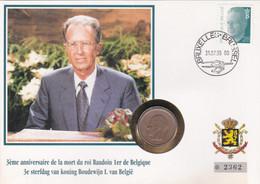 2 Scans Enveloppe Numérotée 2473 Roi Baudouin - Numisletters