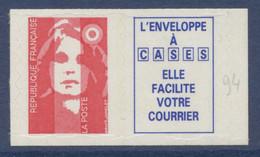 N° 7b Marianne Du Bicentenaire Auto Adhesif Faciale LP + Vignette - Luchtpost