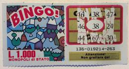 Numero Centrale 38 GRATTA E VINCI  - BINGO - Lottery Tickets