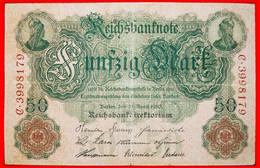 • REICHSBANKNOTE: GERMANY ★ 50 MARK 1910! LOW START ★ NO RESERVE! - 50 Mark