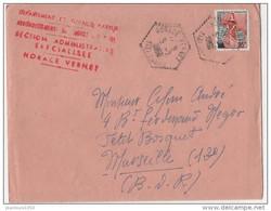 ALGERIE FRANCE YT N°1234 SUR LETTRE RARE AVEC CACHET ET GRIFFE DE LA SAS.HORACE VERNET - Algerienkrieg
