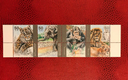 ISRAËL 1992 4v Neuf MNH ** Mi 1240 /1243 Éléphant Lion Chimpanzé - Elefantes