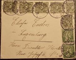 DEUTSCHLAND - 1923 HERFORST Eifel Bitburg Prüm Nach Luxemburg Luxembourg - Ohne Zuordnung