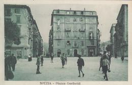 LA SPEZIA-PIAZZA GARIBALDI-BELLA E ANIMATA CARTOLINA NON VIAGGIATA-ANNO 1915-1925 - La Spezia
