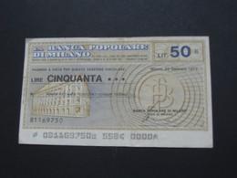 ITALIE - 50 Cinquanta Lire - La Banca Popolare De Milano    **** EN ACHAT IMMEDIAT **** - 50 Lire