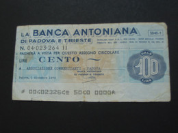 ITALIE - 100 Cento Lire - La Banca Antoniana Di Padova E Trieste     **** EN ACHAT IMMEDIAT **** - 50 Lire