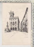 Repubblica Di S. Marino Palazzo Pubblico Illustrata Franzoni Vg 1955 - Saint-Marin