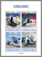 SIERRA LEONE 2020 MNH Submarines U-Boote Sous-marins M/S - OFFICIAL ISSUE - DHQ2047 - Duikboten