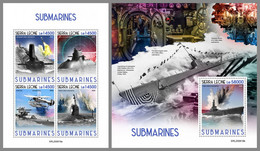 SIERRA LEONE 2020 MNH Submarines U-Boote Sous-marins M/S+S/S - OFFICIAL ISSUE - DHQ2047 - Duikboten