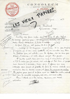 73 - Savoie - AIX-LES-BAINS - Facture FILHOL - Congoleum - 1927 - REF 178A - 1900 – 1949