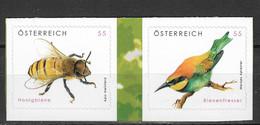 Austria 2009 MiNr. 2819 - 2820  Österreich Birds INSECTS BEES 2v MNH** 2,50 € - Honeybees