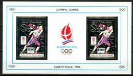 Olympische Spelen  1992 , Guyana - Blok ( Zilver ) Postfris - Winter 1992: Albertville
