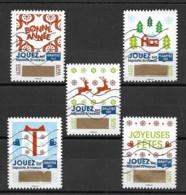 France 2018 Oblitéré Autoadhésif  N° 1641 - 1642 - 1644 - 1649 - 1650  -  Timbre à Gratter  - - Adhesive Stamps