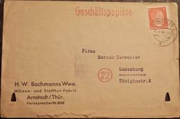 LUXEMBOURG LUXEMBURG - 1944 Arnstadt Nach Luxemburg - 1940-1944 Deutsche Besatzung