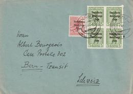 Allemagne Zone Française Lettre Jena Pour La Suisse 1949 - Soviet Zone