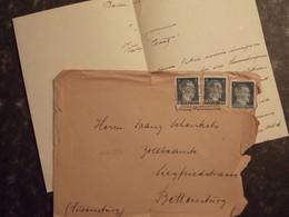 LUXEMBOURG LUXEMBURG - 1943 Berlin Vers BETTEMBOURG  + Contenu: Lettre De Condoléance - 1940-1944 Deutsche Besatzung