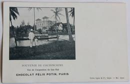 CPA Précurseur Souvenir De Cochinchine Inspection De Can Thô Chocolat Félix Potin Paris Vietnam Indochine - Vietnam