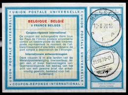BELGIQUE BELGIE Vi19 8 FRANCS BELGESInt.Reply Coupon Reponse IAS IRC Antwortschein O HASSELT 10.8.70 / MIDDELBURG NL - Cupón-respuesta Internacionales