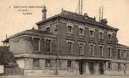 Lot 3 Cpa Gares BRETIGNY Sur ORGE -AUBOUE - BAR LE DUC - Stations Without Trains